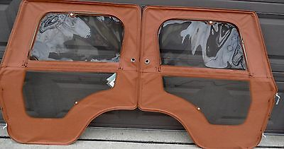 Nos Jeep Whitco Cj5 Soft Doors Nutmeg-1976-1983 (Pair-Right & Left)
