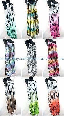 US SELLER-wholesale 10pcs Bali rayon handmade dress tie dye hippie gypsy casual
