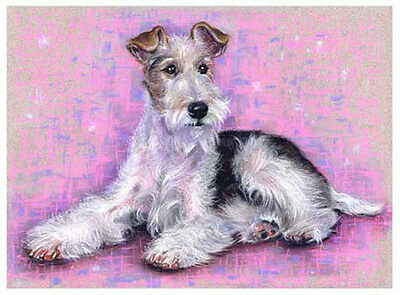 artav Wire Fox Terrier Art Print from Original Pastel