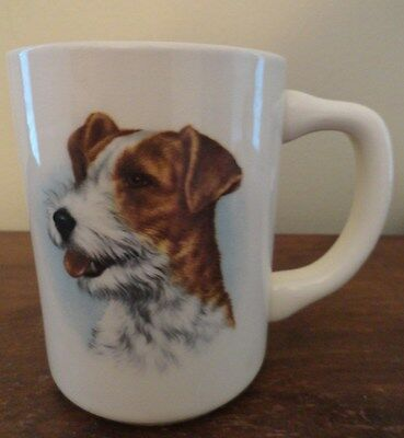 Vintage Wired Hair Fox Terrier Puppy Dog Coffee Mug - USA