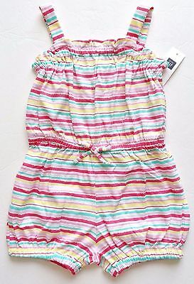 New baby gap one-piece romper girls size 4T pink striped
