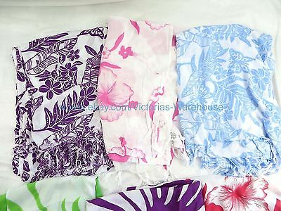 5 sarongs butterfly hibiscus flower summer clothing accessories