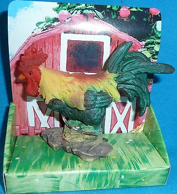 """Colorful Rooster Figurine, Size 3"""" x 4"""""""