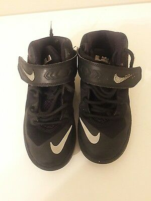 Lebron Nike Boys Black Shoes Size 1C