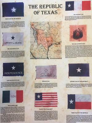 The Republic of Texas Flags & Map Texas Navy Alamo Gonzales Dodson Reproduction