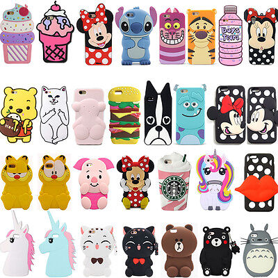 3D Cartoon Soft Silicone Rubber Phone Case Cover Back For Huawei P8 P9 Lite 2015