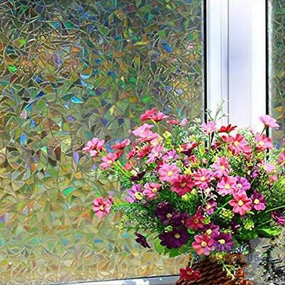 3D Static Cling Home Window Glass Film Stained Frosted Decor Privacy 45*100cm