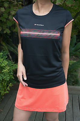 Tecnifibre Womens F2 Airmesh Running Tennis T-shirt - Black