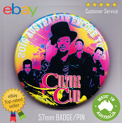 Culture Club 2016 Australian Tour Badge  RARE NEW Boy George The Voice GAY PRIDE