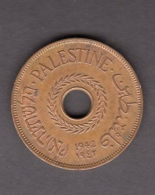 Palestine 1942 20 Mils in XF Condition - Great Coin!