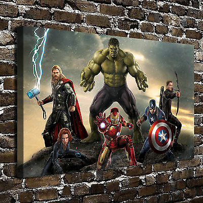 """12""""x18""""Avengers Movie Poster HD Print on Canvas Home Decor Paintings Wall Art"""