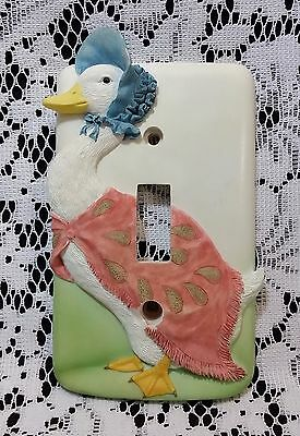 Jemima Puddle Duck Switch Plate #3070 World Of Beatrix Potter Westland Giftware