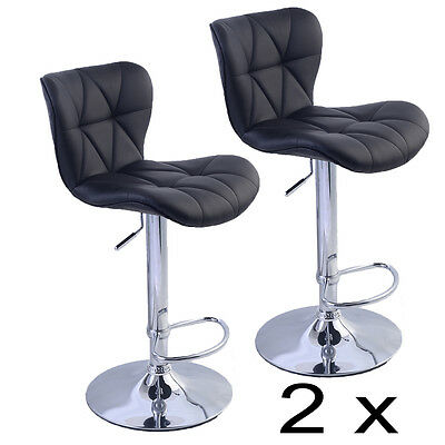 2 X Kitchen Breakfast Bar Stool Pub Swivel Barstools Dining Chairs Faux Leather