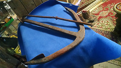 "Anchor 26"" long 22"" wide Rusty Patina Nautical Decor or Landscape Piece"