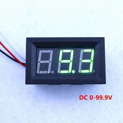 "5pcs DC 100V Green LED Digital Voltmeter Voltage Panel Guage 0.56"" Voltmetro"