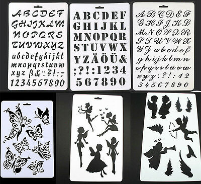 Layering Stencils Painting Scrapbooking Embossing Paper Cards DIY Craft