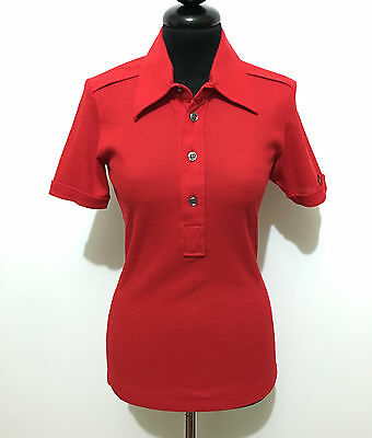 NEW CULT VINTAGE '70 Camicia Polo Donna Jersey Woman Shirt Pole Sz.S - 40
