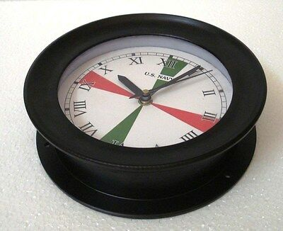 U.S. Navy Marine RADIO ROOM Clock - LARGE -  ROMAN DIAL - 100% SATISFACTION