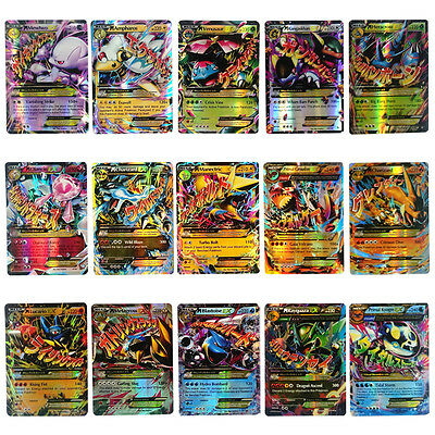 Pokemon 60 Mixed Cards Holo Flash 25 GX Cards+35 EX MEGA Cards Full Art Toy