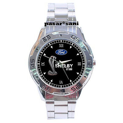 NEW FORD MUSTANG SHELBY COBRA GT 500 Custom Men Chrome Wrist Watch Watches