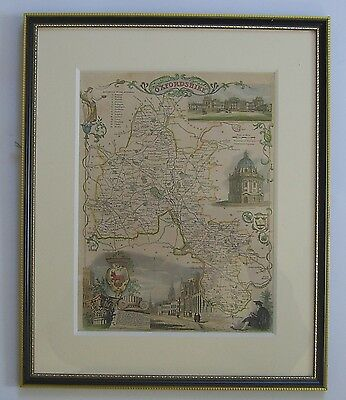 Oxfordshire: antique map by Thomas Moule, c1835