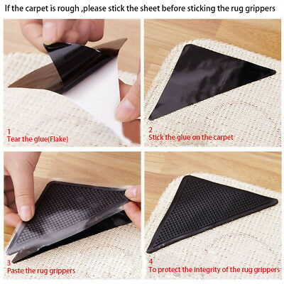 Rug Grippers Non Slip Anti-skid Washable Reusable Mat Grippers Pack of 8+8