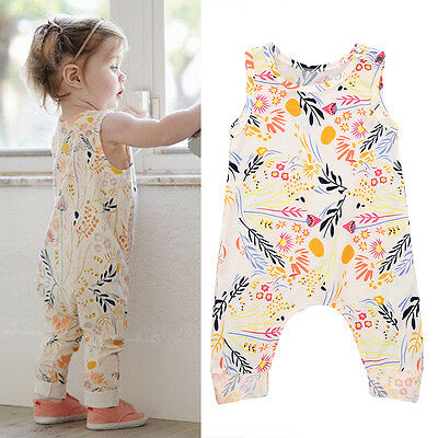 Newborn Baby Girls Romper Jumpsuit Bodysuit Summer Outfits Clothes Sweet