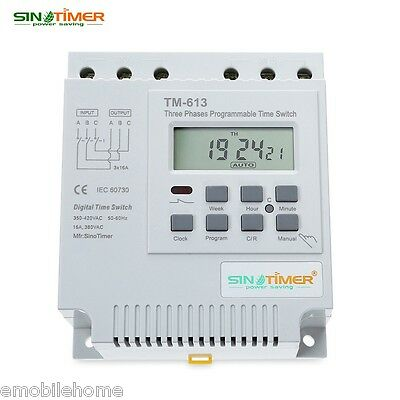 SINOTIMER 380V Digital Three Phases Microcomputer Time Switch with LCD Display