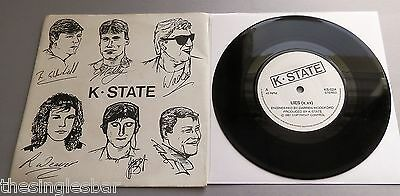 """K State - Lies UK 1987 Private Pressing 7"""" Single"""