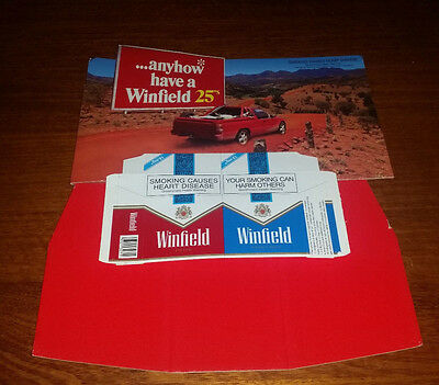 Winfield Cigarettes Bench Top Cardboard Display - As New