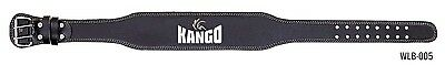 Kango Fitness Weight Lifting 4'' Leather Belt Back Support Gym Power Training