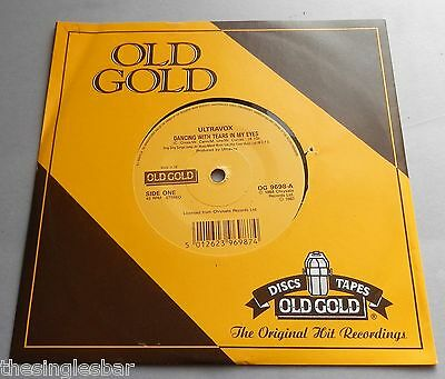 "Ultravox - Dancing With Tears / Reap The Wild Wind UK 1987 Old Gold 7"" P/S"