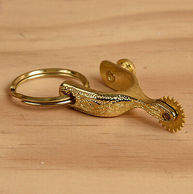 Western Cowboy/Cowgirl Jewelry Gold Spur Key Ring