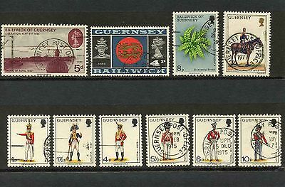 Bailiwick of Guernsey Selection of 23 Stamps - see both scans. Used