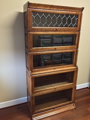 Stacking Sectional Barrister Bookcase 5 Stack