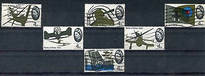 1965 Lower Value Battle of Britain Stamps SG 671-676. Used