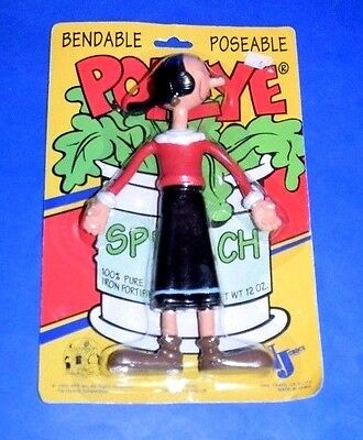 Popeye and Olive Oil Bendable Poseable Figures KFS NJ Croce MOC