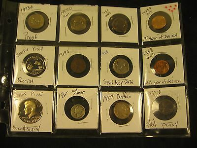 1935 Silver Dime, 1976-S Proof Half Dollar & 10 More Coins