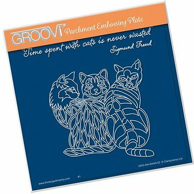 CLARITY STAMP GROOVI Parchment Embossing Plate 3 CATS GRO-AN-40445-03