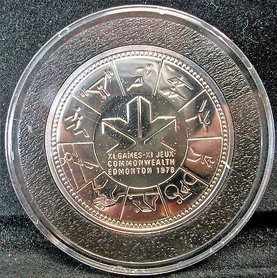 CANADA 1 Dollar 1978 - Silver - Commonwealth Games In Air Tight