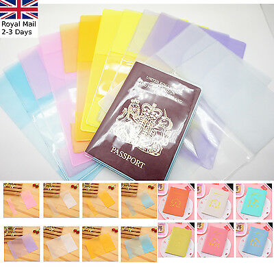 Transparent/Translucent Passport Cover Holder Case Organizer ID Card Protector