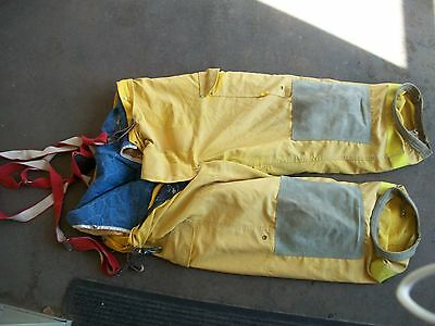 Janesville firefighter pants bunker gear  size 44S with suspenders fire fighter