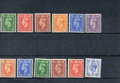 KGVI 1941-42 and 1950-51. SG 485-490 and 503-508. Mint Hinged.