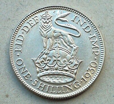 British - 1930  George V Shilling - Bright Uncirculated (588)