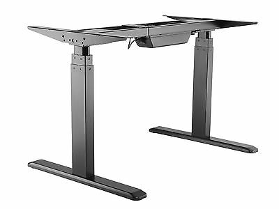 Ergonomic Dual Motor Sit-Stand Height Adjustable Table Work Desk Frame-Electric