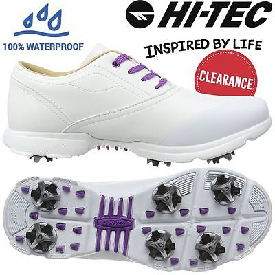 44% Off Rrp Ladies Hi-Tec Dri-Tec Classic Leather Womens Spikes Golf Shoes