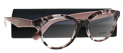New Prada Eyeglasses Women VPR 11R Pink R0J-101  TRIANGLE 50mm