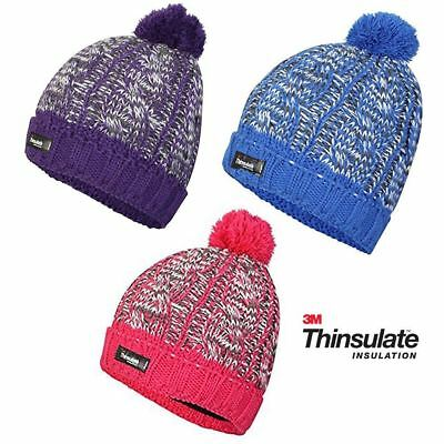 0a2047aaeee Pro Climate Womens Hat Beanie Thinsulate Windproof Waterproof Pom Pom Knit