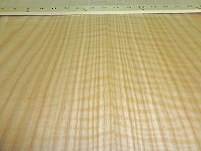 "Red Oak Figured Tiger Flame wood veneer sheet 24"" x 48"" with paper backer 1/40"""