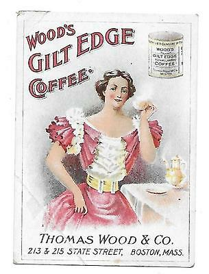 Wood's Gilt Edge Coffee - Thomas Wood & Co.victorian Trade Card